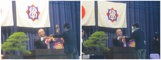 中学卒業式1