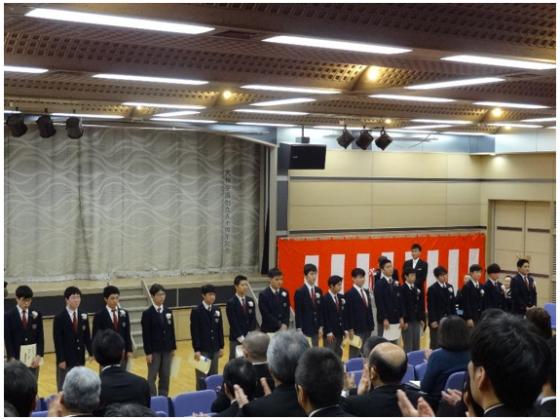 中学卒業式4